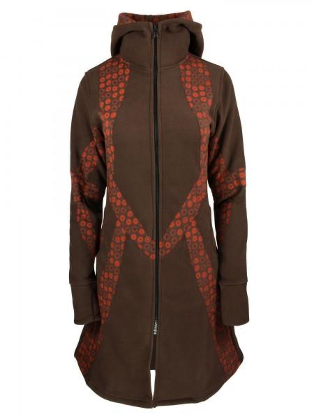 Fleecejacke mit Kapuze für Damen, verschiedene Farben, Modell Nr. 60