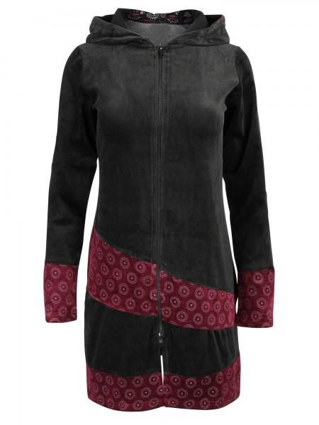 Samtjacke mit Kapuze für Damen, verschiedene Farben, Modell Nr. 30