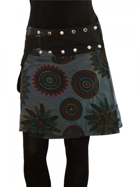 Wickelrock aus Baumwolle mit Reißverschlusstasche, Modell Nr. 180