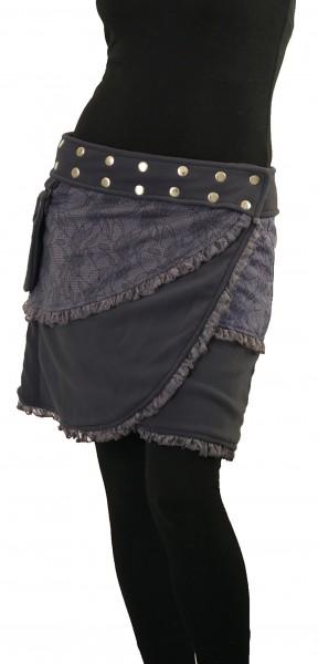 Winterrock aus Fleece Wickelrock mit Tasche Nr. 240