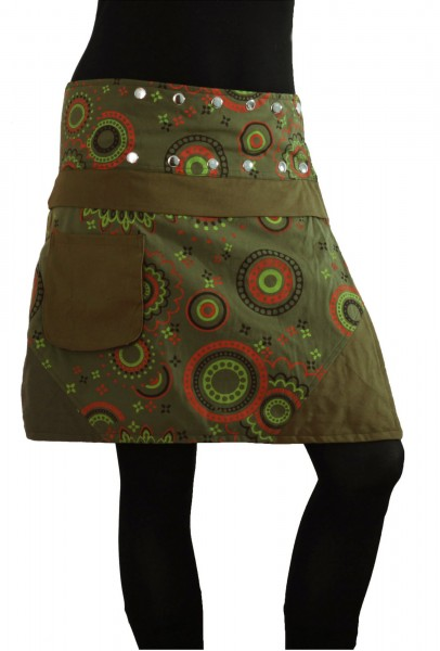 Wickelrock aus Baumwolle mit Tasche, Modell Nr. 178