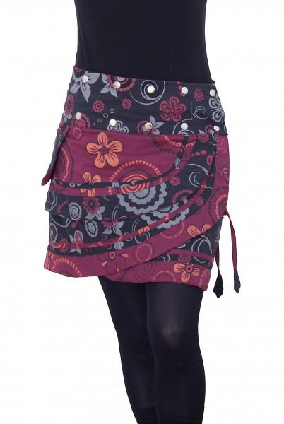 Damen Wickelrock mit Blumen und femininem Muster Nr. 182