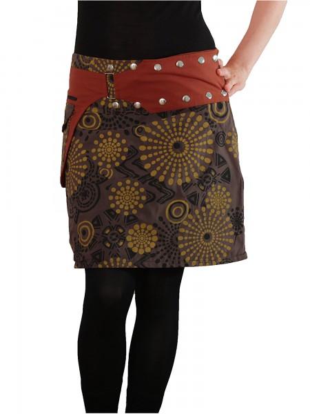 Wickelrock mit Reißverschlusstasche, Damenrock Modell Nr. 170
