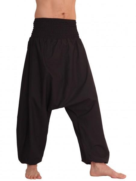 Haremshose für Herren, Aladinhose mit mitteltiefem Schritt aus Baumwolle