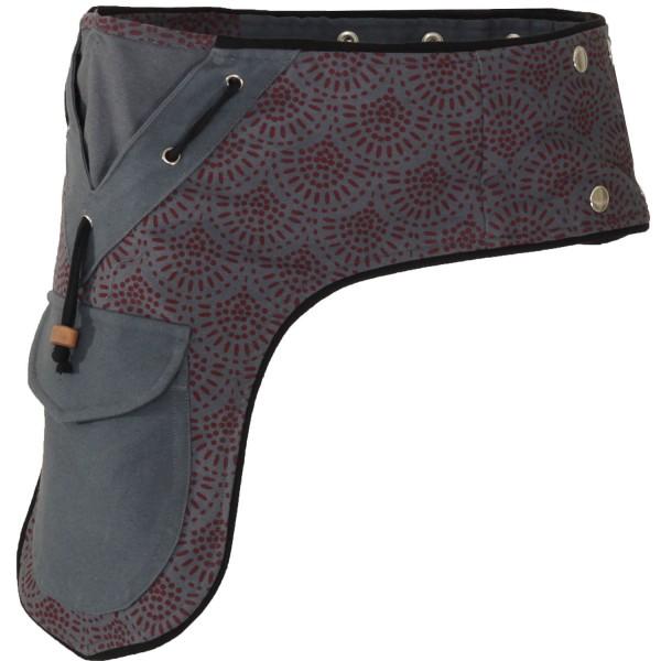 Gürteltasche mit Druckknöpfen, Goa Hüfttasche Modell Nr. 13