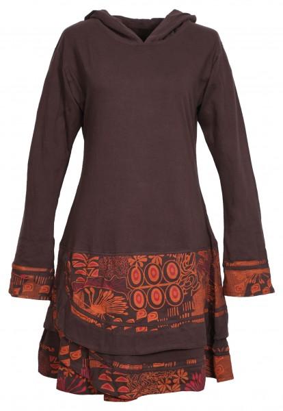 Alternatives Kapuzenkleid aus Baumwolle, Goa Kleid Nr. 86