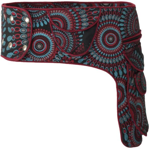 Gürteltasche mit Druckknöpfen, Goa Hüfttasche Modell Nr. 1