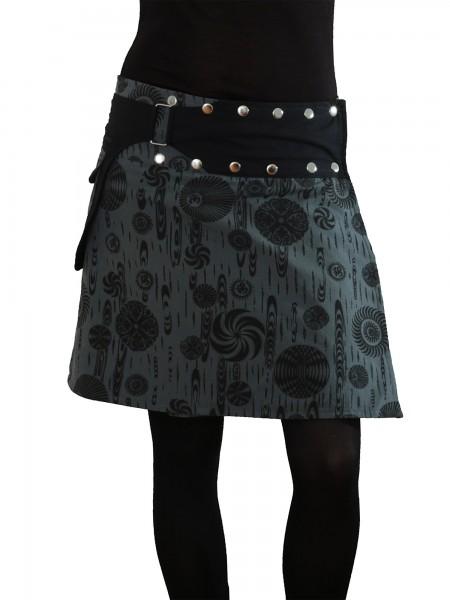 Wickelrock aus Baumwolle mit Reißverschlusstasche, Modell Nr. 117