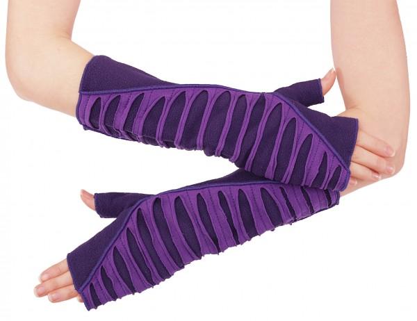 Armstulpen Damen Handstulpen aus Fleece in sieben Farben, Design Nr. 2