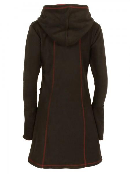 Kuscheliges Kleid aus Fleece mit Kapuze für Damen, verschiedene Farben, Modell Nr. 11