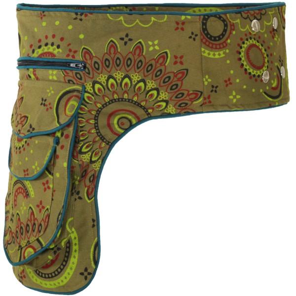 Gürteltasche mit Druckknöpfen, Goa Hüfttasche Modell Nr. 4
