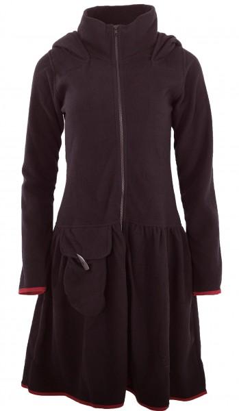 PUREWONDER Mantel aus Fleece, Damenjacke mit Zipfelkapuze Nr. 1