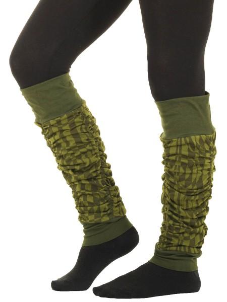 Beinstulpen aus Baumwolle, Stulpen mit Muster LW33