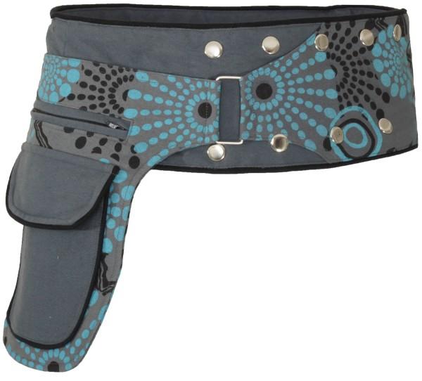 Gürteltasche mit Druckknöpfen, Goa Hüfttasche Modell Nr. 19
