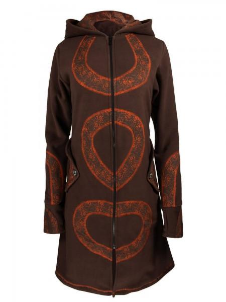 Fleecejacke mit Kapuze für Damen, verschiedene Farben, Modell Nr. 48