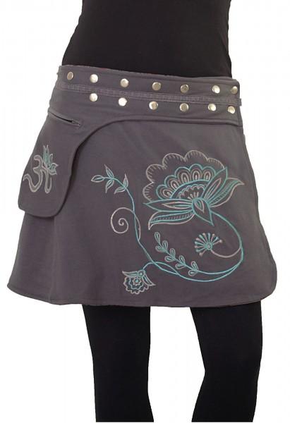 Wickelrock aus Baumwolle mit Tasche und Druckknöpfen, Winterrock Modell Nr. 232