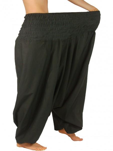 XXL-Aladinhose, extragroße Haremshose aus 100 % Baumwolle
