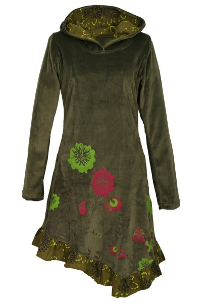 Elfenkleid aus Baumwollsamt mit Zipfelkapuze, Alternatives Kleid Nr. 15