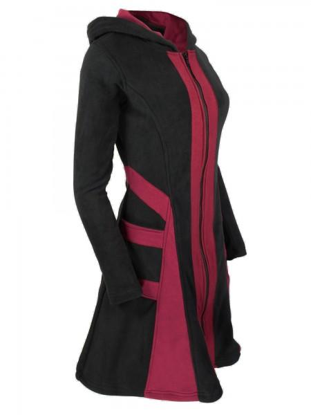 Fleecejacke mit Kapuze für Damen, verschiedene Farben, Modell Nr. 68