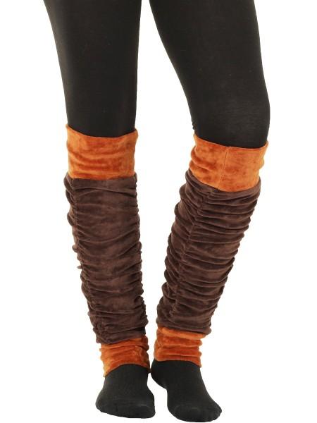 Stulpen Beinstulpen für Damen, Samt Beinwärmer Nr. 25
