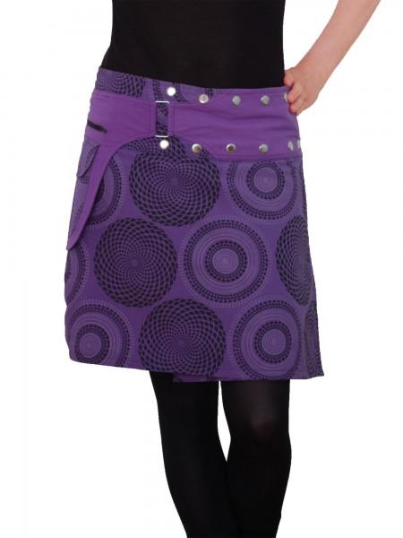 Wickelrock aus Baumwolle mit Reißverschlusstasche, Modell Nr. 172