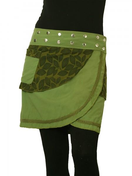 Wickelrock aus Baumwolle mit Tasche und Druckknöpfen, Modell Nr. 231