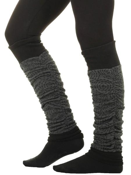 Schöne Beinstulpen aus Fleece mit verspieltem Muster LW35