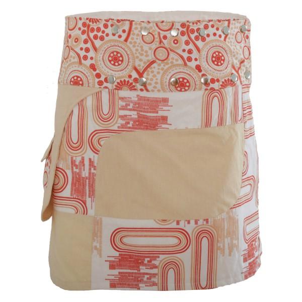 Wickelrock für Sommer und Winter mit Tasche, Modell Nr. 107