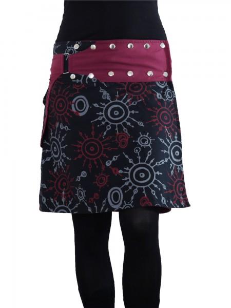 Wickelrock aus Baumwolle mit Reißverschlusstasche, Modell Nr. 174