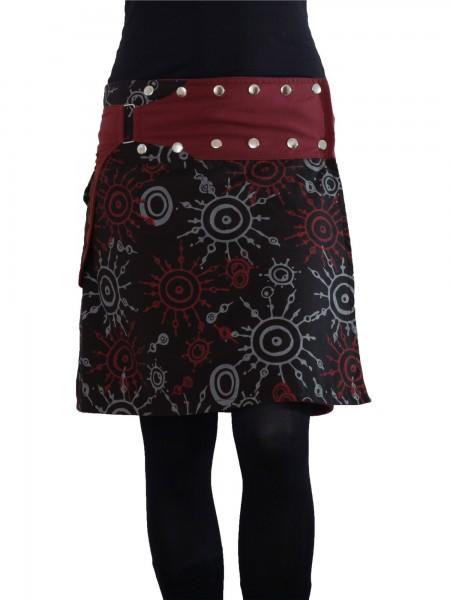 Auffälliger Wickelrock mit Druckknöpfen, Minirock für Damen Nr. 174