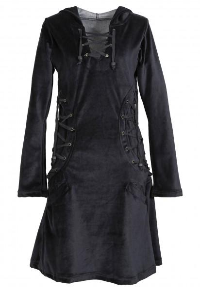 Elfenkleid aus Baumwollsamt mit Zipfelkapuze, Alternatives Kleid Nr. 62