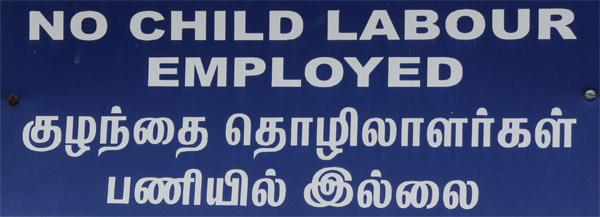 Keine Kinderarbeit