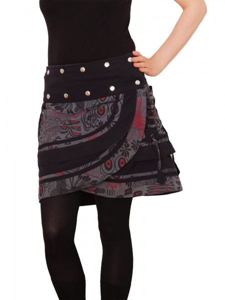 Wickelrock für Damen mit lebhaftem Muster und Schnürung Nr. 196