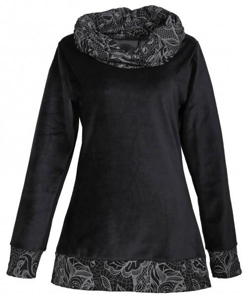 Alternatives Kleid, Oberteil aus Samt, Tunika mit großem Kragen Nr. 32