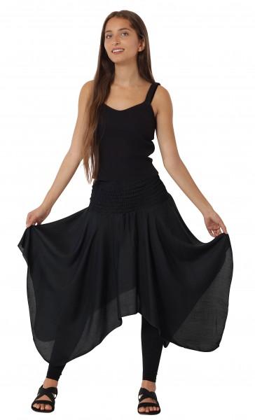 Zipfelrock und Kleid aus bequem fallender Viskose, Einheitsgröße