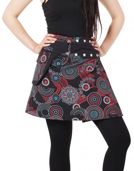 Damen Wickelrock mit coolem Muster Nr. 195