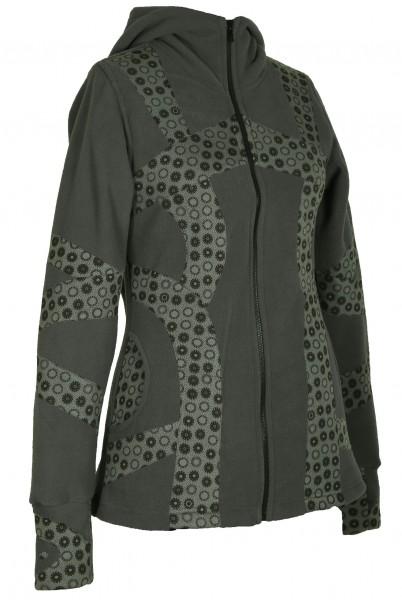 Fleecejacke mit Zipfelkapuze für Damen, verschiedene Farben, Goa Modell Nr. 66