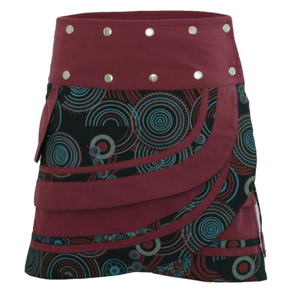 Wickelrock aus Baumwolle mit Tasche und Druckknöpfen, Modell Nr. 181