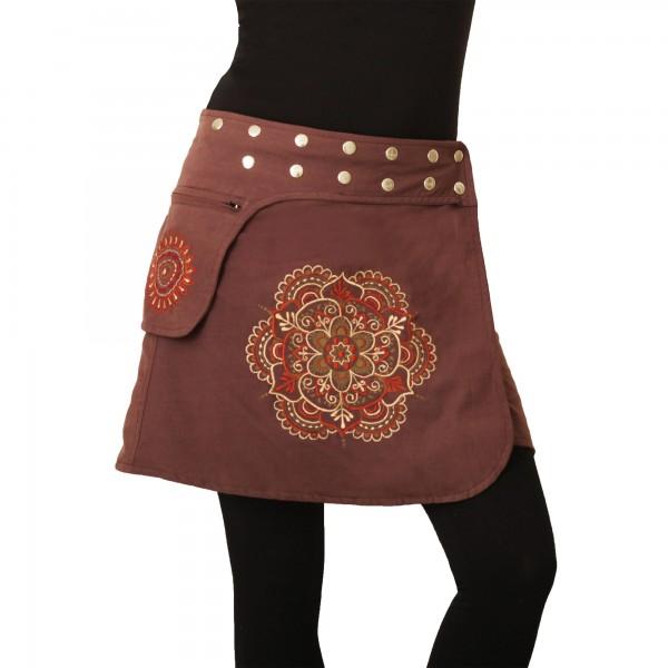 Wickelrock mit Tasche und Druckknöpfen, Goa Damen Modell Nr. 230