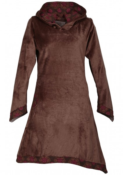 Elfenkleid aus Baumwollsamt mit Zipfelkapuze, Alternatives Kleid Nr. 49