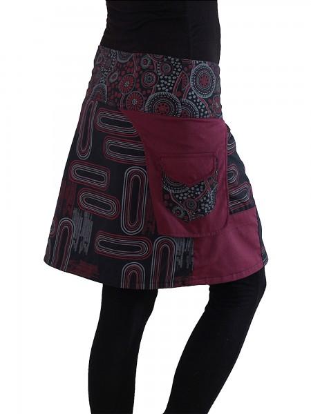 Wickelrock aus Baumwolle mit Tasche, Modell Nr. 107