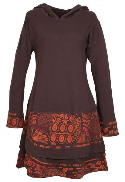 Elfenkleid Baumwolle mit Zipfelkapuze Kleid Nr. 186