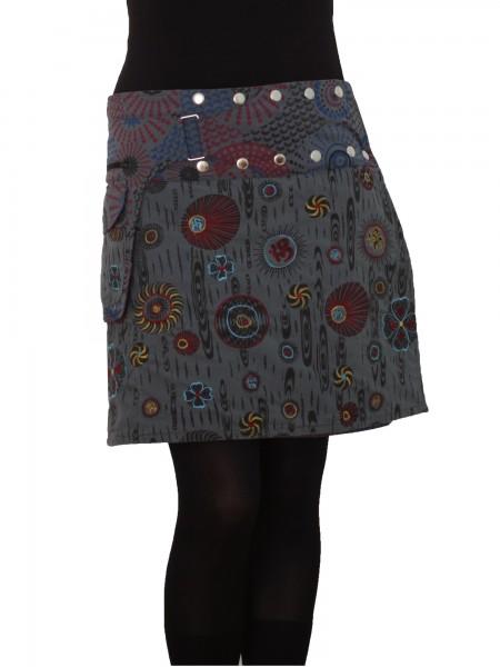 Wickelrock aus Baumwolle mit Reißverschlusstasche, Modell Nr. 184