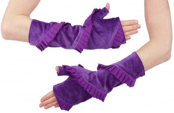 Armstulpen Damen Handstulpen aus Samt in sieben Farben, Design Nr. 3