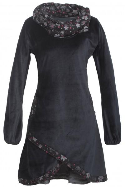 Kleid aus Baumwollsamt mit großem Kragen Nr. 26