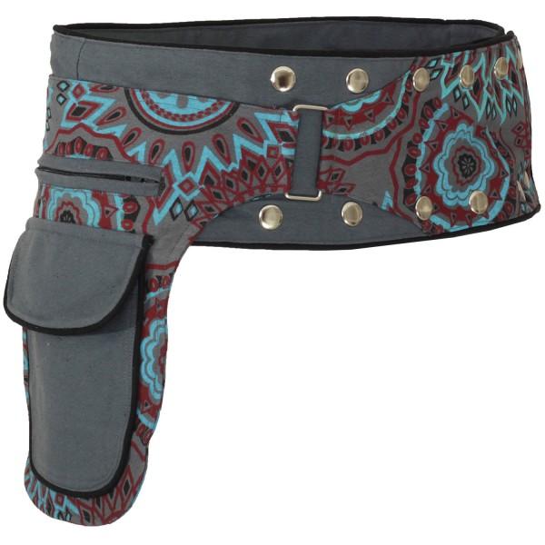 Gürteltasche mit Druckknöpfen, Goa Hüfttasche Modell Nr. 16