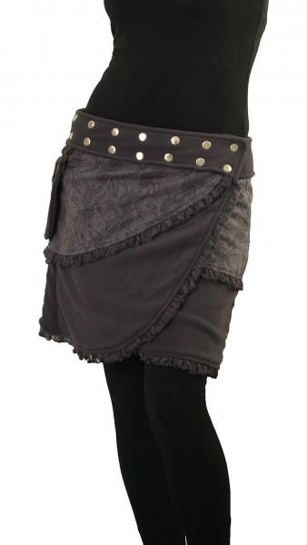 Wickelrock aus Fleece mit Tasche, Winterrock Modell Nr. 240