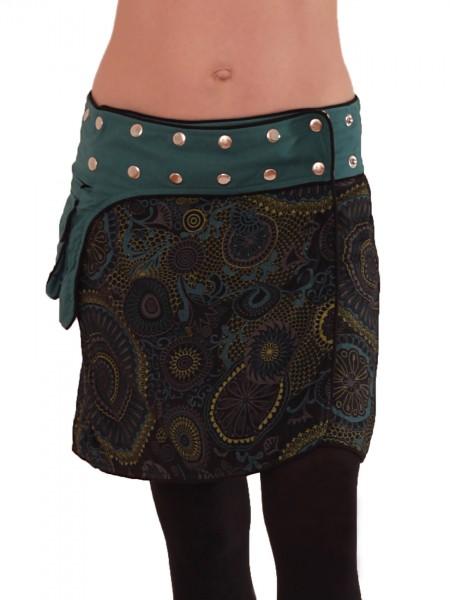 Wickelrock aus Baumwolle mit Tasche und Druckknöpfen, Goa Modell Nr. 100