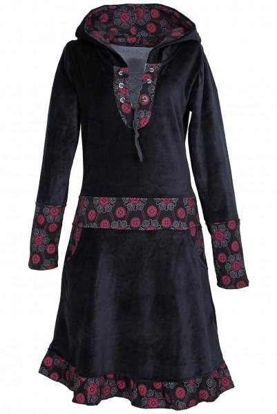 Elfenkleid aus Baumwollsamt mit Zipfelkapuze, Alternatives Kleid Nr. 44