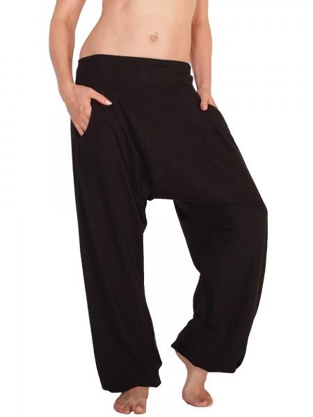 Haremshose aus Jersey mit Taschen, Damen Aladinhose Nr. P28